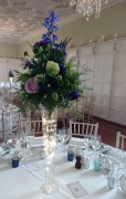 Tall tapered Guest Table Vases, Blues and Greens – Hengrave Hall, Bury Saint Edmunds