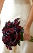 Compact Handtied Bouquet – Burgundy and Purple