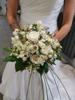 All white Handtied Bouquet for the Bride – The Warren Estate, Woodham Walter, Maldon