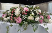 Top Table Arrangement white and pinks – Private Function