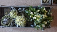 Rustic wild Handtied Bouquet with Bridesmaids Gypsophila Posy and Circlet Headdress