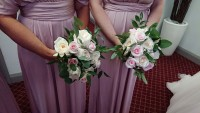 Loosely arranged Handtied Bouquets with Roses - Parklands Quendon Hall