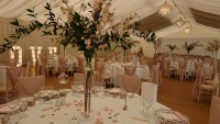 Tall tapered Vases with artificial blossom and fresh foliage – Parklands Quendon Hall, Quendon